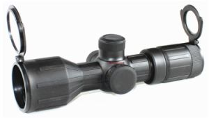 Hunting 3-9X40 Compact Rubber Rifle Scope Red Green Illumination Mil-DOT Reticle pictures & photos