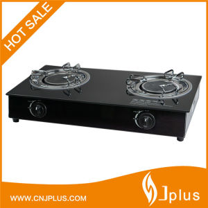 2 Burners Tempered Glass Top Brass & Infrared Gas Cooker/Gas Stove Jp-Gcg210 pictures & photos