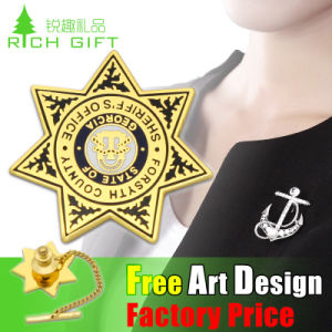 Wholesale Customized Brand Lapel Pin Coin Gold Plating Metal Badge pictures & photos