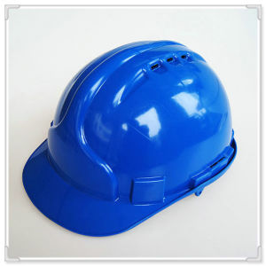 Blue Safety Hard Hat Ansiz89.1 with Ratchet Adjuster and Nylon Liner pictures & photos