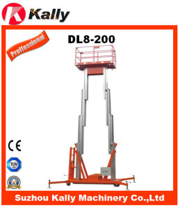 Hydraulic Double Mast Aluminum Alloy Aerial Working Lift (DL8-200)