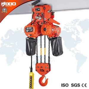 Kixio 10 Ton Industrial Building Electric Chain Hoist with Trolley pictures & photos