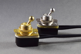 "Toggle Switches with Wires up to 3A 125 "" L "" Rating, Nameplate Optional"