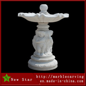 White Marble Carving Water Fountain Core (NS-246) pictures & photos