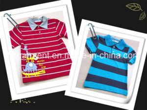 Kids Wear Strip Cotton Print Polo Shirt for Boy pictures & photos