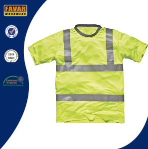 Hi-Vis Yellow Safety T-Shirt pictures & photos