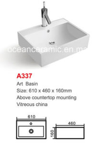 Ceramic Wash Basin (No. A337) Rectangular Art Basin pictures & photos