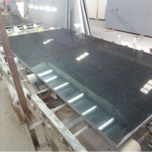 Kingkonree Artificial Stone Engineered Stone Black Mirror Quartz Slab pictures & photos