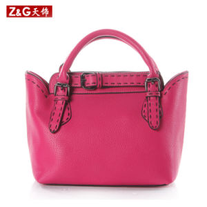 Fashion Lady Handbag Leather Product (LDB-015) pictures & photos
