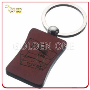 High Quality Laser Engraving Custom Logo Wooden Keychain pictures & photos