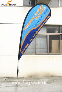 Exhibition Aluminium+Fiberglass Teardrop Flag/Teardrop Banner pictures & photos