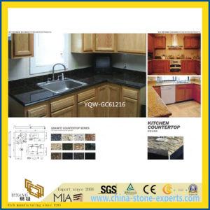 Natural Black/Golden Granite Counter for Kitchen, Bathroom pictures & photos