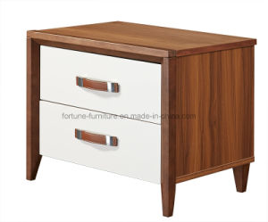 Bedroom Furniture/Modern Wooden Walnut & White Bedside Table (Camel 1022) pictures & photos