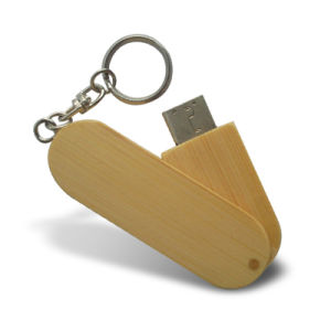 Keyring Wooden Flash Memory Stick Swivel Bamboo USB Flash Drive pictures & photos