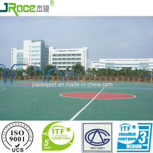 Guangzhou Factory of Outdoor Rubber Flooring Basketball Court pictures & photos