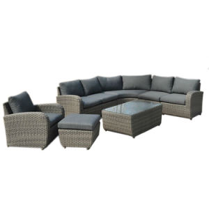 Patio Sectional Sofa Set Rattan Garden Wicker Outdoor Furniture pictures & photos