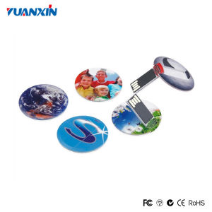 Custom Round Mini Card USB Flash Drive