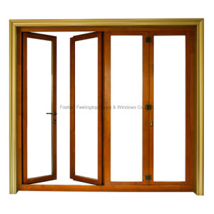 Feelingtop Aluminum Double Glazing Exterior Interior Bi-Folding Door pictures & photos