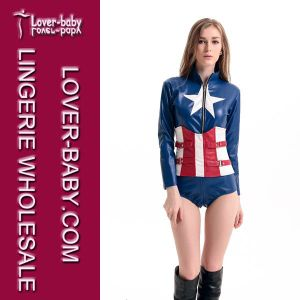 Captain America Cosplay Man Woman Hero Costume (L15302) pictures & photos