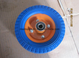 6X2 Solid Flat Free PU Foam Wheel pictures & photos