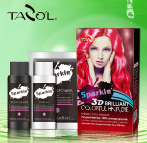 2016 Tazol Sparkle 3D Colorful Hair Dye with Pomegranate pictures & photos