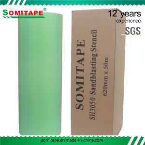 Somitape Thick Protective PVC Film/Sandblasting Film/Sandblasting Protective Film pictures & photos