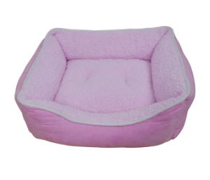 Wholesale Brushed Polar Fleece Pet Bed with Comfort Filling pictures & photos