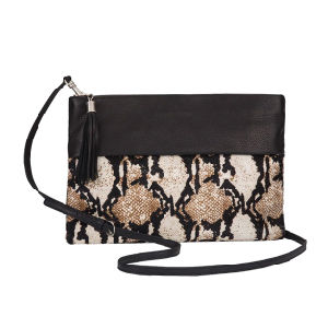 Cl12-040 Best Selling Sexy Snake Print PU Ladies Clutch Bag