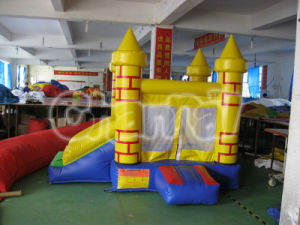 Yellow Inflatable Bouncer with Slide Chb203 pictures & photos
