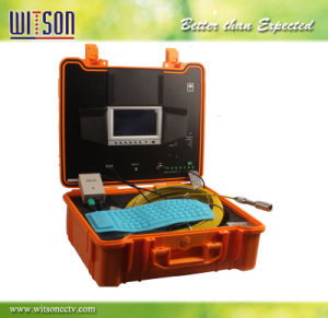 Witson Sewer Pipe Inspection Camera with Push Rod Wheel 30m Fiberglass Cable pictures & photos