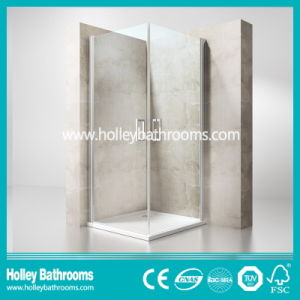 Hinged Ground Glass Double Doors Selling Simple Tempered Glass Shower Door (SE706H) pictures & photos