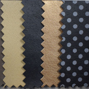 Pigskin Grain Synthetic PU Leather for Shoe Lining (HST029) pictures & photos