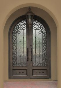 Best Choice Double Handmade Forged Door Design Wrought Doors pictures & photos