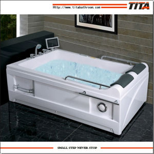 2016 Big Size Square Acrylic Indoor Whirlpool Bathtub Tmb018 pictures & photos