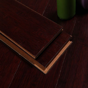 HDF Bamboo Flooring Horizontal Handscraped Cafe pictures & photos