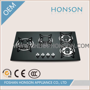 Kitchen Glass Built-in Cast Iron Grate Gas Stove Gas Cooker