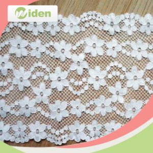 Knitted Tricot Lace Nylon and Spandex Elastic Lace for Lingerie pictures & photos