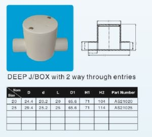 20mm 25mm Two Way Deep J/B UPVC Pipe Fitting pictures & photos