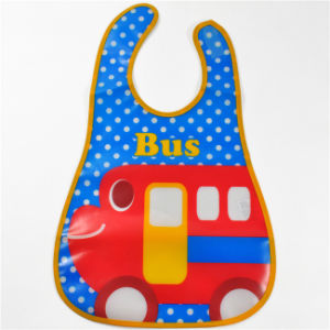 Promotion Gift Printing Waterproof 3D Cartoon PEVA Baby Bibs (MECO271) pictures & photos