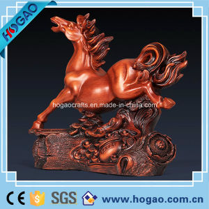 Resin Sculpture Statue Horse for New Year Gift (HG085) pictures & photos