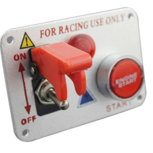 Racing Car 12V Ignition Switch Panel Engine Start Push Button Red LED Toggle Car Accessories pictures & photos