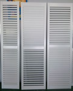 Z Frame Real Basswood 89 mm Blade Interior Door Way Plantation Shutters pictures & photos