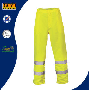 Mens Fluro Color Elasticated Waist Work Pants pictures & photos