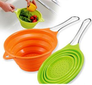 Atoxic Foldable Kitchenware Silicon Basket pictures & photos