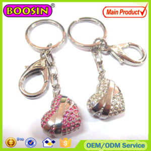 Lover′s Gift! Golden CZ Stone Heart Shape Keychain pictures & photos