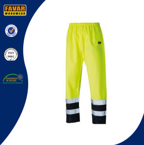 Hi Vis Fluorescent Orange/Yellow Waterproof Trousers Workwear pictures & photos