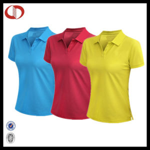 100% Polyester Fitted Sport Shirt Polo Women pictures & photos
