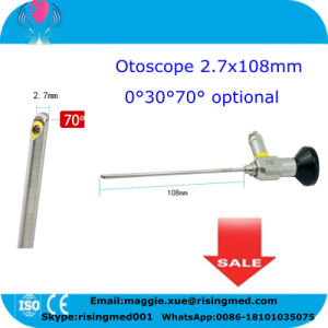 Rigid Otoscope 4*50mm 2.7*108mm Auriscope Compatible Storz Stryker Wolf Olympus Endoscopy for Ear Mirror-Candice pictures & photos