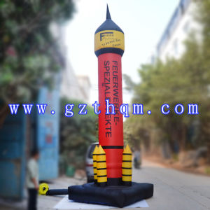 Giant Outdoor Advertisement Inflatable Rocket Model/PVC Beautiful Inflatable Rocket Model pictures & photos