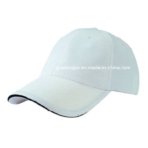 Six Panels Plain Dry-Fit Mesh Baseball Cap with Sandwich pictures & photos